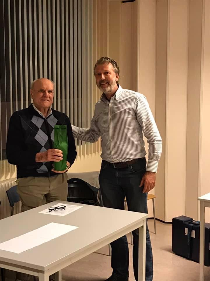 Hans Peek (Bijzonder Lid) en Edo Lokerse (voorzitter)